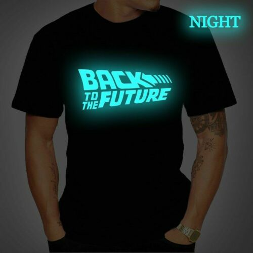 Back To The Future Tshirt Luminous T Shirt camiseta Summer Short Sleeve T Shirts