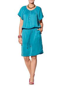 APART-Kleid-44-Satinkleid-Damen-Blusenkleid-Sommerkleid-blau-oversized-47578-384