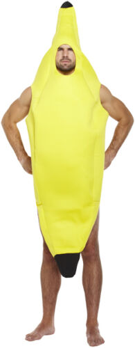ADULT FANCY DRESS BANANA COSTUME STAG NIGHT OUTFIT FRUIT COMEDY FUNNY FUN PARTY