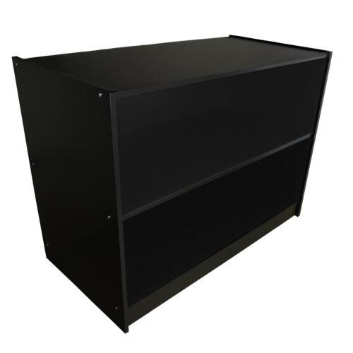 Pantalla de bloque de tienda minorista Contador hasta estantes de armario de almacenamiento negro A1200