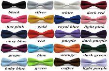 Boys Kids Children's Bowtie Adjustable Luxury Pre Tied Satin Wedding Bow Tie