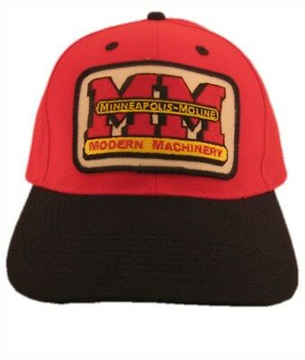 Minneapolis Moline Tractor Red and Black Hat - Cap Gift Fits Most  0b8028b6de10