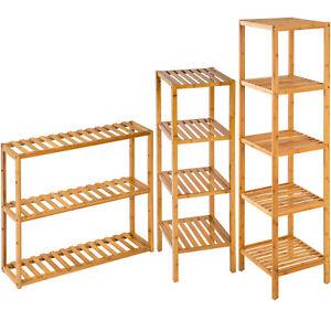 Scaffale in legno espositore libreria mensole bamboo bagno - Scaffale legno bagno ikea ...