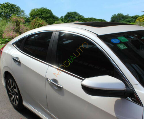 8Pcs For Honda Civic 10th Gen 4dr Sedan 2016 2017 Bottom Window Sill Frame Trim