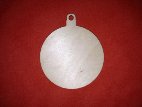 10 x BAUBLES 7cm SHAPE PLAIN UNPAINTED BLANK WOODEN CHRISTMAS TREE HANGING TAG