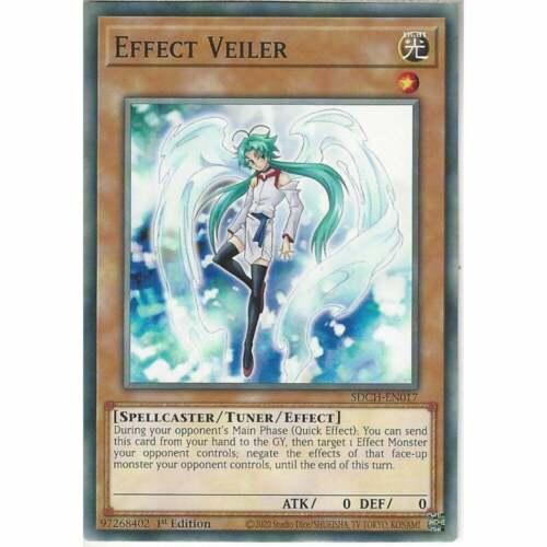 SDCH-EN017 Effect Veiler1st EditionCommon YuGiOh Trading Card Game TCG
