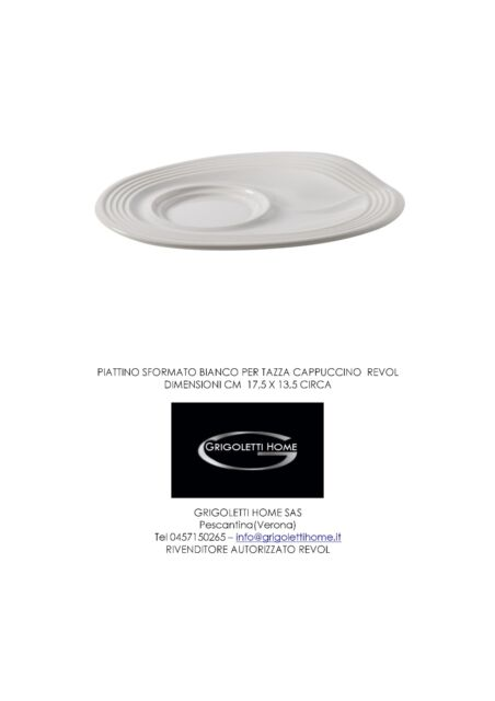 Revol - Saucer Flan White For Glass Cappuccino Froisse- DEALER