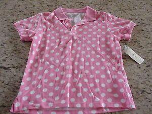 NWT-HBA-Womens-Pink-Polka-Dot-Polo-Shirt-Size-S