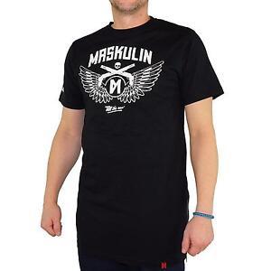 MASKULIN-Alas-Camiseta-T-Shirt-Hombre-Camiseta-color-negro-31398