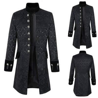 Men/'s Velvet Goth Steampunk Victorian Frock Handmade Coat//Medieval /& Renaissance