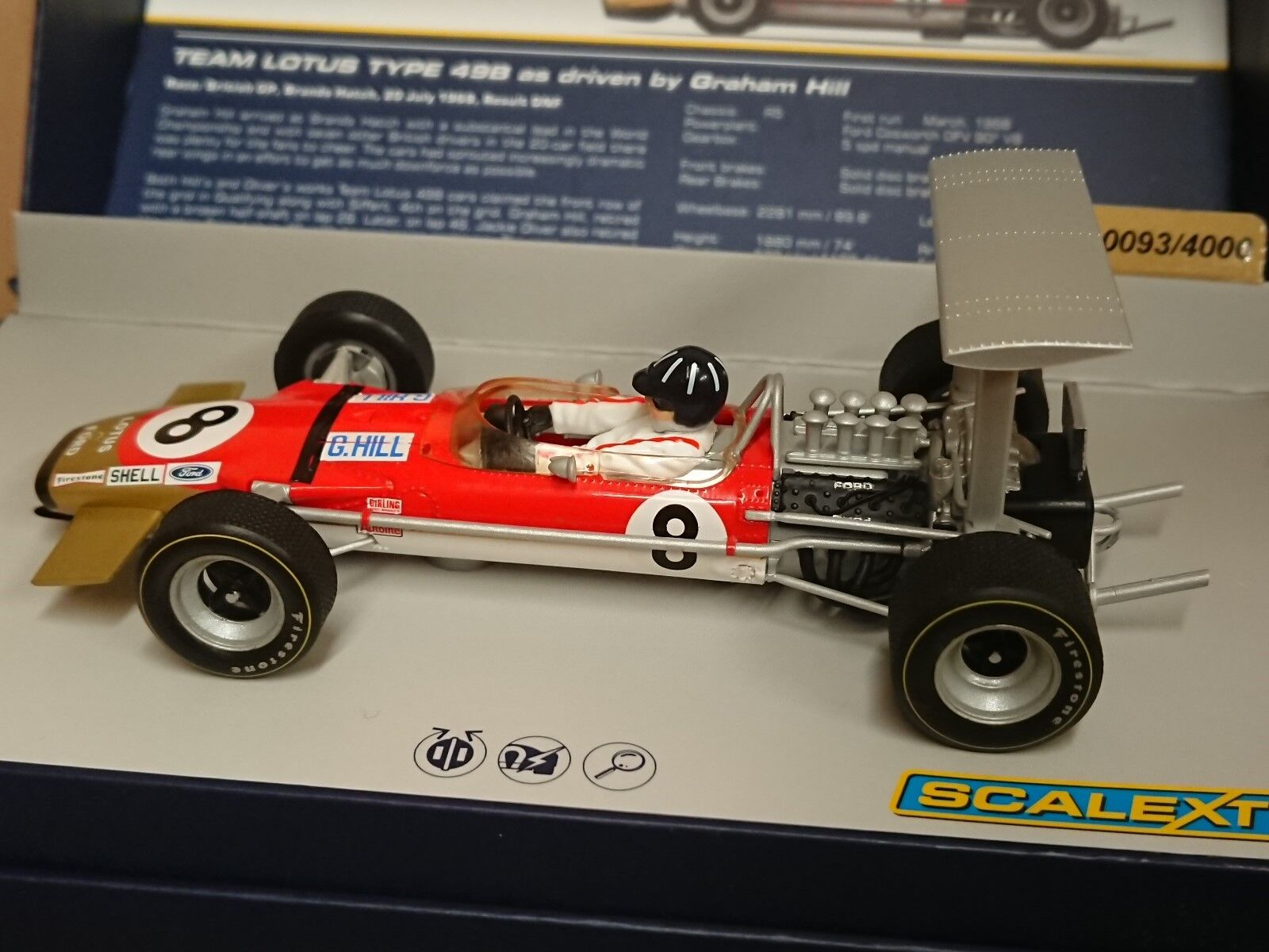 SCALEXTRIC C3543A Lotus Type 49B Graham Hill No.8 Ltd Edition No. 0093 of 4000