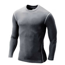 Winter Sportlegging.Men Winter Thermal Warm Shirts Skin Tights Compression Base Under