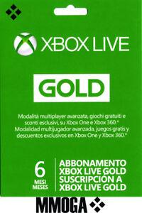 SuscripciónXbox Live Gold De 6 Meses - Xbox One Xbox 360 Código Digital - ES