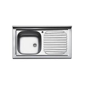 Lavello appoggio cucina acciaio inox mobile sottolavello da 90 ...