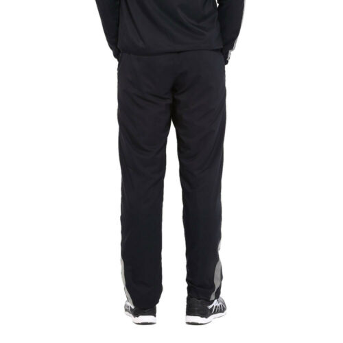 Asics Mens Woven Track Pant Black Sports Running Gym Breathable Lightweight Zip