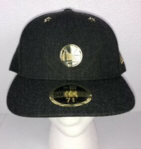 new styles 6a550 35f10 Image is loading New-Era-59fifty-NBA-Golden-State-Warriors-Badged-