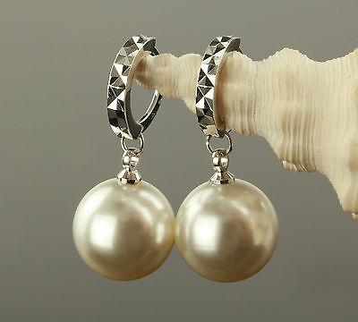 B-Ware Zauberhafte Ohrringe Perlen Ø 12 mm Echt 925 Sterling Silber weiß O1839-1