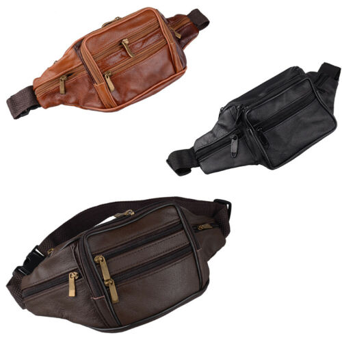 New Men Genuine Leather Fanny Pack Waist Wallet Chest Bag Purse Crossbody Riding