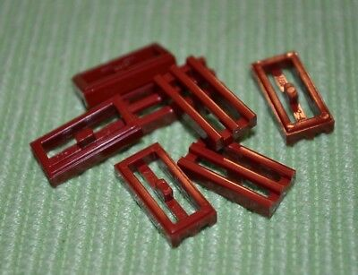 1x2 Dark Red Slotted Grill Tile Bricks ~ Lego  ~ NEW ~ Detail Parts ~ 7
