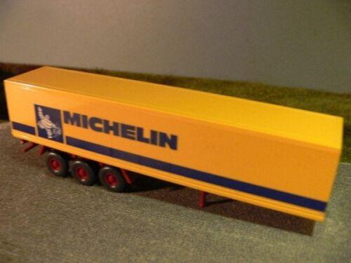 1//87 Wiking 3 achs Koffer Auflieger Michelin