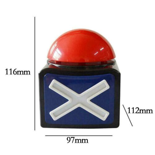 Red Light Quiz Trivia Buzzer N3Z1 Game Answer Buzzer Alarm Button Sound Light