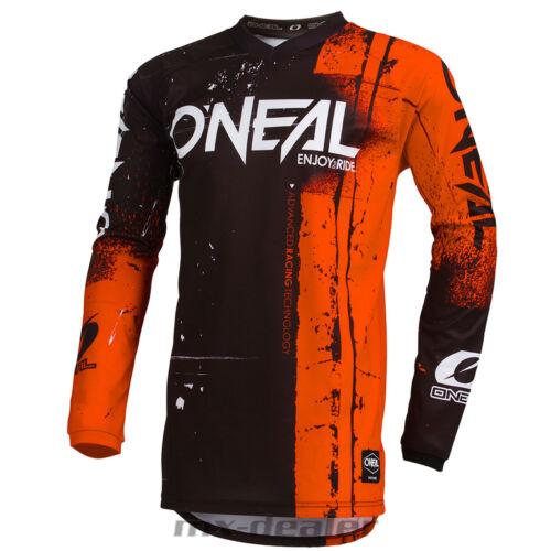 O 'Neal Element Bambini Jersey Shred Orange Kids Maglia MX DH MTB BMX Motocross