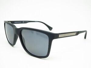50eb877be21 New Emporio Armani EA 4047 5063 81 Black Rubber with Polarized Grey ...