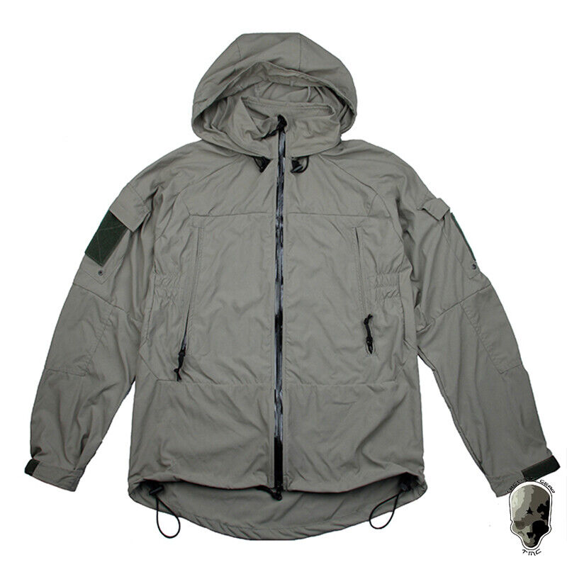 TMC UCP L5 Tactical Uomo Giacca Felpa Con Cappuccio Giacca Softshell Luce Zipper cappotto Airsoft