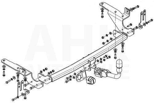 Für Toyota RAV4 III XA30 ohne Reserverad an der Hecktür 06-13 AHK abn.+ES 13pol