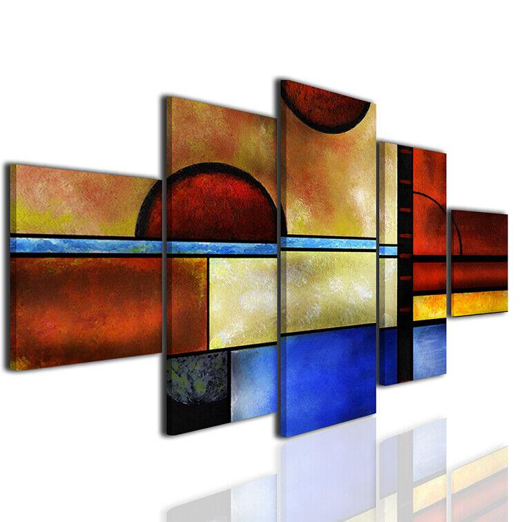Quadri geometrici stampe moderne su tela quadro moderno canvas arrotamento  a10
