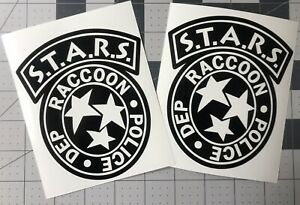 PAIR-STARS-Raccoon-City-Police-Dept-Resident-Evil-Decal-UR-Color-Choice-Sticker