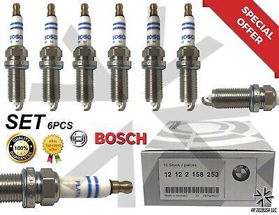 6pc OEM 12122158253 Bosch Spark Plugs fr7npp332 For BMW E60 E83 E85 E90 platinum