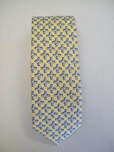 Southern-Tide-Silk-Skipjack-Mosiac-Print-Necktie-NWT-79-50-Made-in-Italy-Yellow