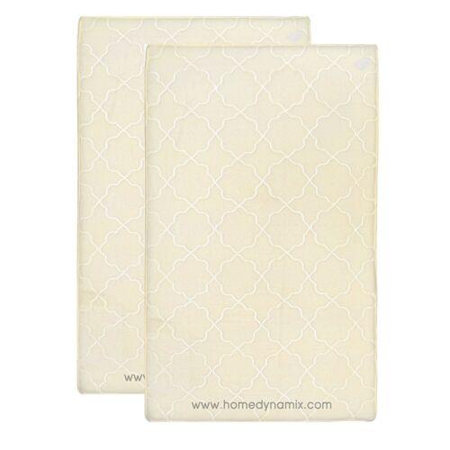 Trellis Design Non Skid Day Spa Ivory Memory Foam Bathroom Mat//rug