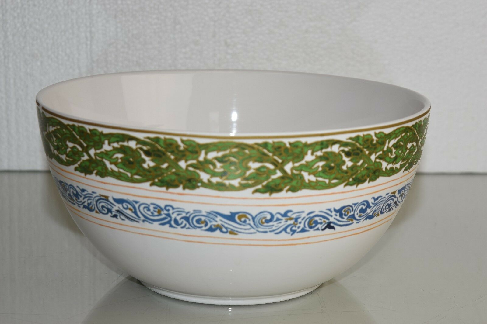 Nouveau Williams Sonoma céramique Thai Grand Bol Vert Bleu 11  DIAM