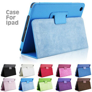 New-Luxury-Magnetic-Smart-Flip-Cover-Stand-Wallet-PU-Leather-Case-For-iPad-Model