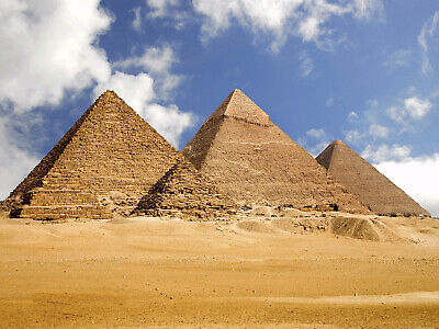 HD Vinyl 7X5FT Pyramid Backdrop Ancient Egypt Backdrops Egyptian Old Archiculture Camel Sand Beach Pilgrimage Worship Photography Background for Outdoor Tourism Journey Photo Studio Props HXM419