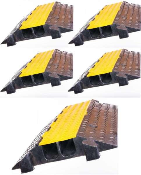 5 X 2 Kanal Kabelbrücke Schlauchbrücke Überfahrrampe Kabelkanal Überfahrschutz Onderscheidend Vanwege Zijn Traditionele Eigenschappen