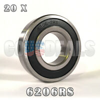6206rs 6206-2rs Deep Groove Ball Bearing 30mm X 62mm X 16mm 20 Pcs