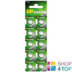 10-GP-ALKALINE-CELL-LR44-A76-BATTERIES-G13-1-5V-COIN-CELL-BUTTON-EXP-2021-NEW
