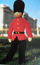 "#78 DK 19.25"" Soldier Coldstream Guardsman Toy Vintage Knitting Pattern"