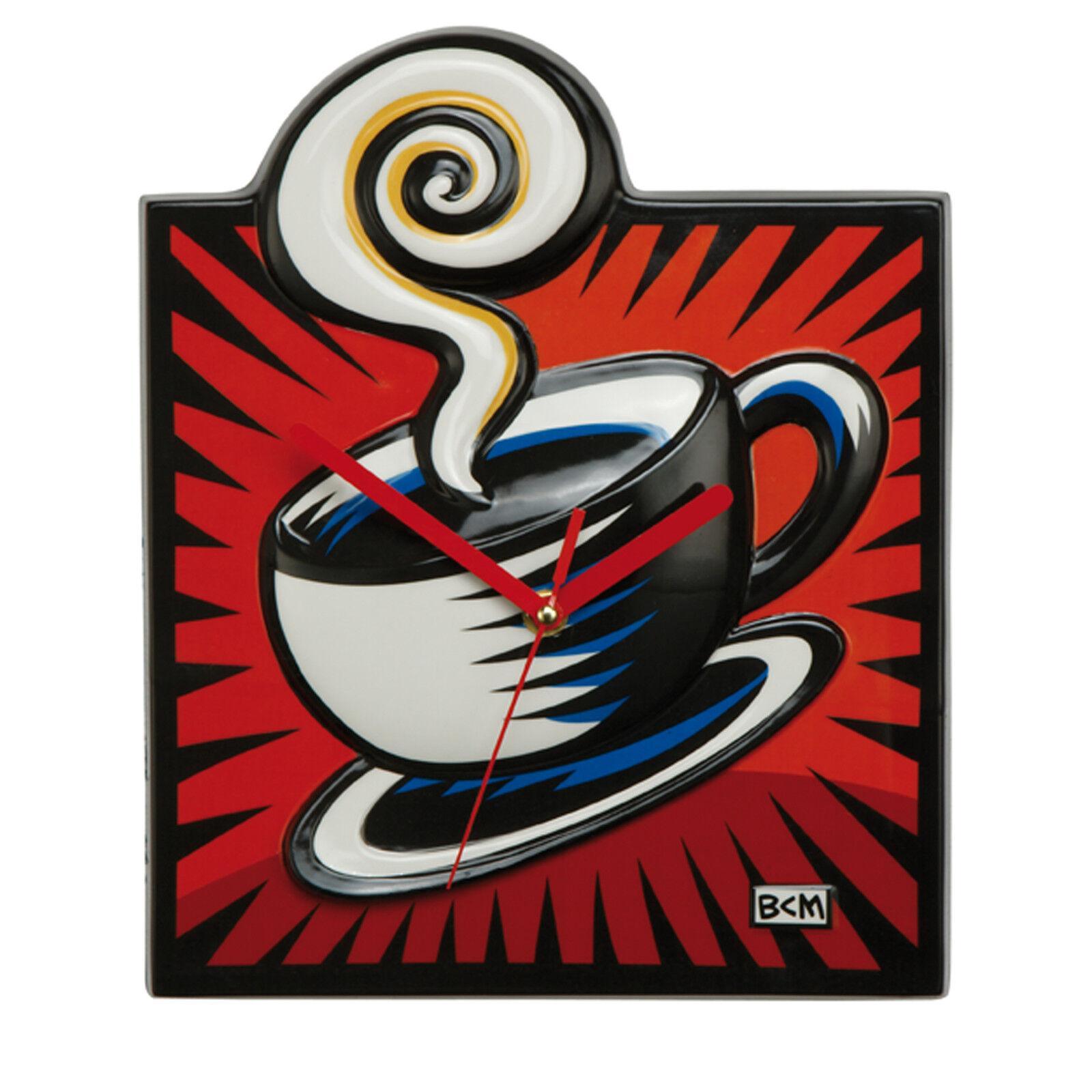 Goebel ARTIS Orbis Uhr Coffee Break - rot Wanduhr Burton Morris Pop Art