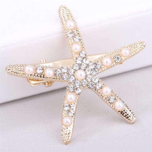 Fashion Lady Girl Beach Wedding Natural Starfish Sea Star Hair Clip HairpiLD