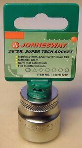 "Jonnesway 21mm Super Tech 3/8"" Drive Socket for Nissan Toyota Mazda Ford Audi VW"