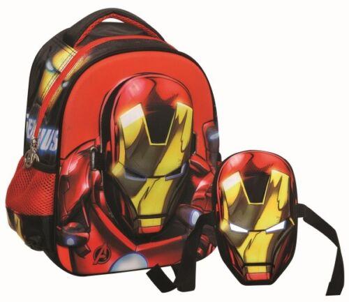 3D Mask Kindergarten School Backpack Bag Marvel Avengers Ironman Hulk Spiderman