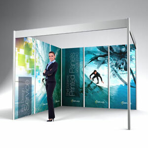 Exhibition Shell : Shell scheme exhibition display bespoke printed wall panels