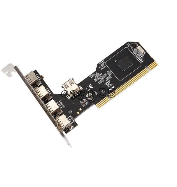 High Speed 480Mbps 5 Port USB 2.0 PCI Hub Card Controller Adaptor Module UK