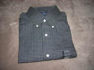 Croft & Barrow Black/White Grid Classic-Fit Casual / Dress Shirt~MSRP $32~NWT