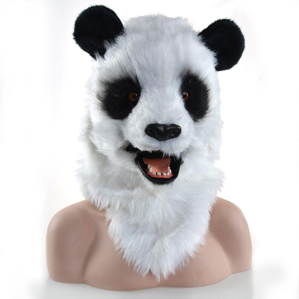 Fursuit Panda details about can move mouth panda mascot costume fursuit cosplay animal  party dress lifelike