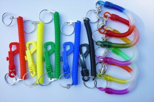 Green Yellow Red Blue Black Multi spring stretch keyring dummy pacifier clip